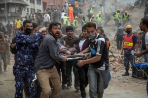 The casualties in the Nepal Earthquake