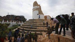 The historic tower in Kathmandu