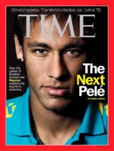 Neymar for the cover of the Time magazine