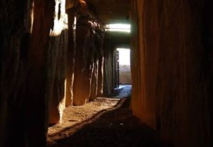 Winter solstice light in Newgrange